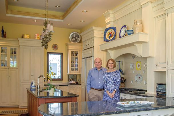 Eddie and Janice Mauck are pictured Thursday in the spacious kitchen of their turn-of-the-century home on Third Street South in Columbus.