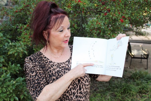 Midge Maloney talks about artist Jenny Vega's illustrations in Maloney's children's book,