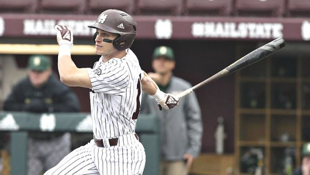 Jake Mangum stroked four hits against Grambling Wednesday to become the fifth MSU baseball player to eclipse the 300-hit plateau.