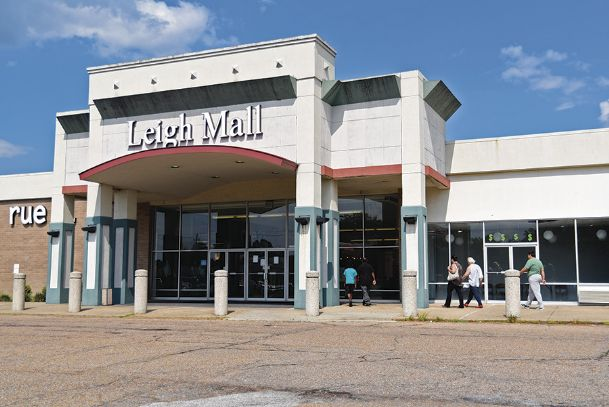 Leigh Mall on Highway 45 is on the auction block in a public sale scheduled for Jan. 8. Its parent company, Security National Properties, defaulted on a multi-million dollar loan for which the mall was listed as collateral.