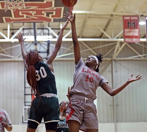 EMCC freshman forward Ja'Mia Hollings has stood out for the Lions this year. Hollings played her high school ball at West Point.