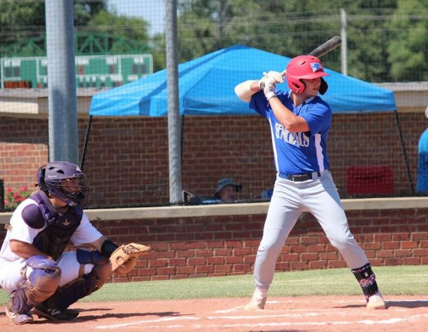 Heritage Academy graduate Blayze Berry stands in for the Hill Country Generals during a game Saturday at BNA Park in New Albany. Berry, who has signed with Mississippi State, is one of 11 Generals players who hails from the Golden Triangle area.