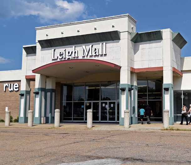 Leigh Mall on Highway 45 in Columbus is up for public auction as collateral on a defaulted loan, according to a public sale notice in today's edition of The Dispatch. Security National Properties, which owns the mall, defaulted on the $34.7 million debt, which placed 27 of its properties on the auction block.