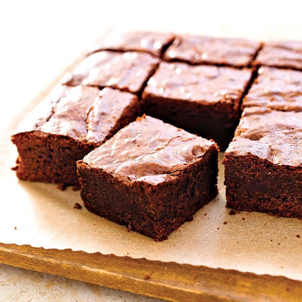Melting butter along with the chocolate is the key to this brownie's fudgy texture.
