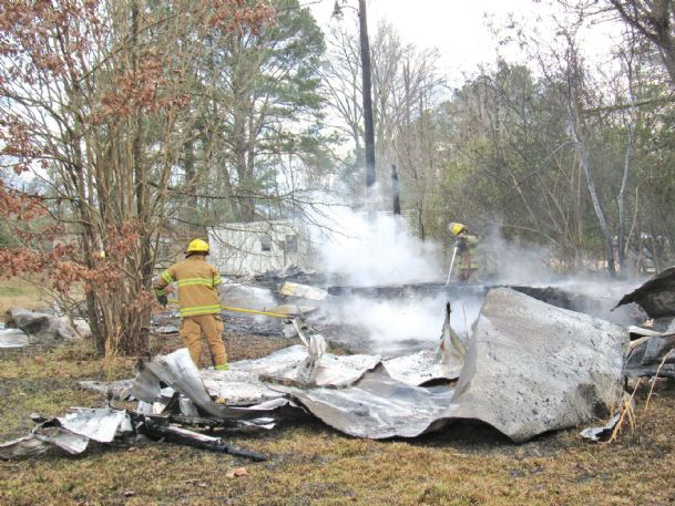 A vacant mobile home along Highway 373 was destroyed by fire on Wednesday. No injuries were reported.
