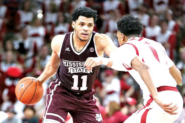 Sports Mississippi State Bulldogs' guard Quinndary Weatherspoon (11), shown here earlier in the season against Arkansas, was selected to the SEC's first team All-Star squad.