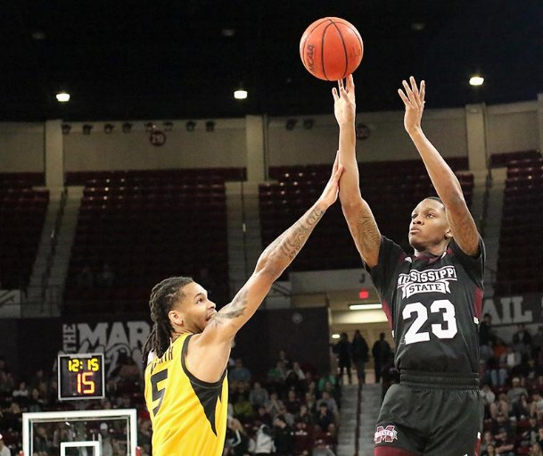 """""""It means a lot to me,� senior guard Tyson Carter said of passing his father on Mississippi State's all-time scoring list Tuesday."""