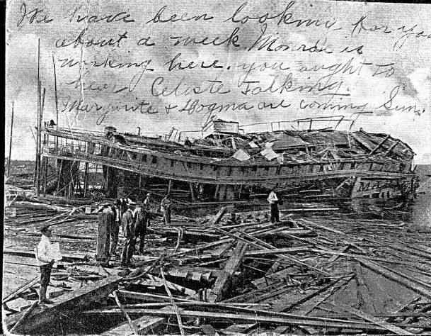 In 1906, a hurricane wrecked many of the steamboats in the Mobile River system trade. As a result, the Tombigbee River trade was badly damaged. Soon a shipwreck of political making may wreck tourism in Columbus.
