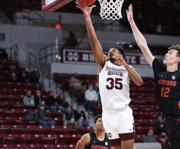 Mississippi State's Tolu Smith had a career-high 27 points and 14 rebounds for his fifth double-double of the season Saturday. The Bulldogs beat Florida 72-69 at Humphrey Coliseum.