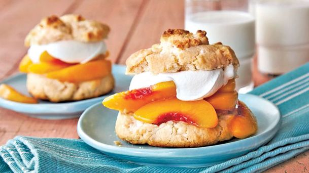 Bisquick has been called the most versatile ingredient in the kitchen. Use it to slice work time for dishes from casseroles to desserts, like these peach-ginger shortcakes.
