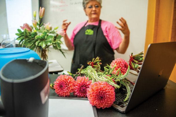 Mississippi State floral management teacher Lynette McDougald designed and introduced the first basic floral design course offered virtually during MSU's Summer Advantage Online.