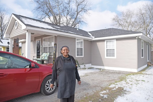 Lorraine Shelton said the decision to rebuild her house on Waterworks Road after the Feb. 23, 2019, tornado wasn't a difficult one to make.