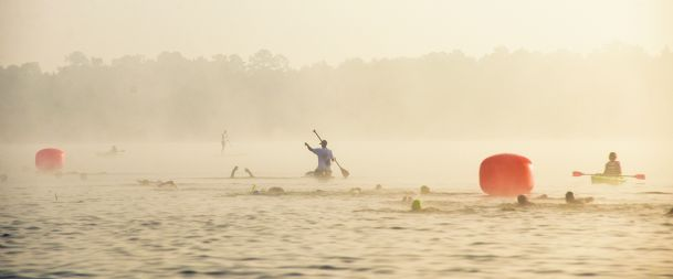 Saturday morning the third annual Possum Town Triathlon was held at the John C. Stennis  Lock and Dam.