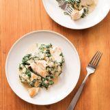 Chicken breasts in this Chicken Florentine recipe from the cookbook