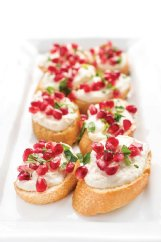 Roasted garlic-whipped feta crostini can be ready in under half an hour.