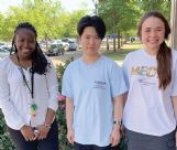 MSMS student Violet Jira, left, and graduates Michelle Luo and Madison Wypyski had short stories published in Write for Mississippi's second book,