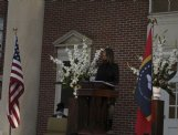 """Columbus Municipal School District superintendent Dr. Cherie Labat speaks during Friday's Franklin Academy bicentennial celebration. Labat called education """"the great equalizer� and said it is imperative in communities like Columbus."""