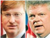 Tate Reeves, left, and Jim Hood