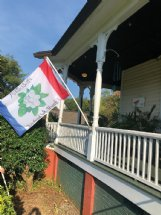 Jeff Turnage had this version of his idea for a new state flag made into a flag he could fly at his home in Columbus.