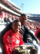 Tre'von Marshall and his father Ken take in a game at Sanford Stadium roughly three year's prior to Ken's death in 2015. Tre'von grew up a die-hard Georgia fan and said it was always his father's dream for him to play for the Bulldogs.