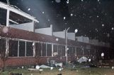 The storm ripped off a portion of the roof at Hunt Success Academy. City officials said 12 classrooms were destroyed. Across 20th Street North, Sim Scott Community Center was also heavily damaged on Saturday.
