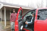 Chad Williams, left, and his father, Ronald, live on family land on Walter Bell Road northeast of the Oktibbeha County Lake Dam. They said they were not concerned about the warning that the levee might breach since the water level regularly rises and falls, but they have property in Pheba where they can stay in the case of a mandatory evacuation, Ronald Williams said.