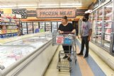 Clarissa Crowell shops with her son, Tyqualan, 14, on Monday at Piggly Wiggly in New Hope. Crowell said she thinks masks should be required in Lowndes County, especially as businesses begin to open up again. Crowell said she forgot her mask in her car.