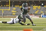 West Point High School running back Brandon Harris (2) tries to score a touchdown against West Jones in the first half of their Mississippi High School Activities Association (MHSAA) Class 5A State Championship Game  on Saturday in Hattiesburg. West Point won 27-12.