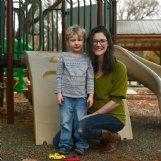 Luke Munson, 4, and mom Katherine Munson: