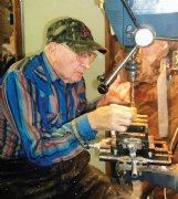 Fred Baker of Columbus still makes pens using deer antler and an assortment of woods whenever he visits his workshop in Cochrane, Alabama.