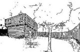 John Pitchlynn's log blockhouse near his residence at Plymouth Bluff was known as Fort Smith in 1813. Drawing by John Dunaway courtesy of Carolyn Kaye.