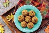 These cranberry pumpkin muffins also include cinnamon and allspice.