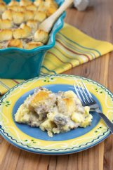 This biscuit-sausage mushroom casserole helps out when you have a lot of hungry mouths to feed.