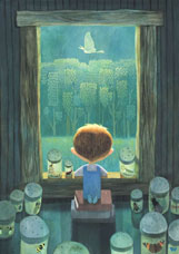 This charming artwork is for an upcoming children's book Harkness wrote and is illustrating.