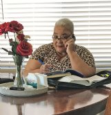 Former Columbus resident Eunice Boston calls in from her home in Las Vegas to the St. James United Methodist Church Bible study conference call Wednesday.