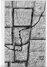 The old roads that once crossed the Golden Triangle are shown on this map published in 1839. Also shown as shaded areas are prairies.
