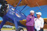 Virgina McAdams thanks pilot Tim