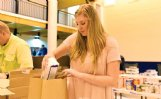 Ginger Pate, 16, bags food donated during the 100th annual White Christmas Pageant at First United Methodist Church in Columbus in this Dispatch file photo. Ginger is the daughter of Robert and Stephanie Pate.