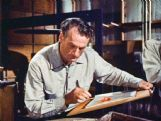 Former Columbus resident Joshua Meador (1911-65) is pictured at work in the Walt Disney Studio. Meador was a pioneering animator, special affects artist and animation director for Disney.