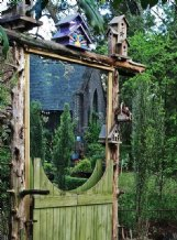 A garden project, like this whimsical gate, adds to appeal and helps put social distancing time to good use.