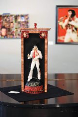 Elvis is a frequent star in Elayne Goodman's folk art. This piece is at the Columbus Arts Council.