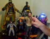 Erik Studdard's collection of figures includes the Rick Grimes character from