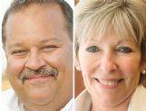 Joe Max Higgins, left, and Lynn Spruill