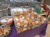 Sales of Halloween-themed baked goods at Vowell's Marketplace in Starkville have been down this year, which suggests more families are staying at home for the holiday, says Monique Tice, one of the store's managers.