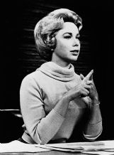 This undated file photo shows Dr.Joyce Brothers in the studio of her direct line radio show.