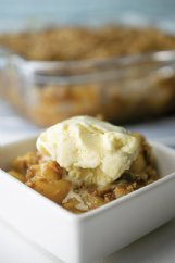 This spiced apple crumble brings together so many flavors of fall.