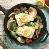 This one-pan fish dish just takes about a half hour from prep to table.