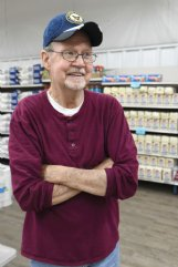 Doug George stands in Shop & Save in Caledonia on Wednesday. George said he thought Harry Sanders' statement was inappropriate.