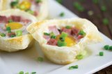 Ham, eggs and Swiss cheese star in these bite-sized breakfast bites.