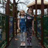 Piper Crigler, 6, and Molly Munson, 8: